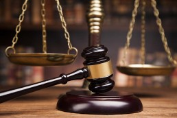 Fenchurch Law gavel scales