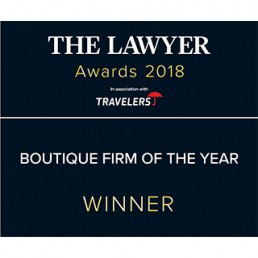 Fenchurch Law boutique firm of the year award